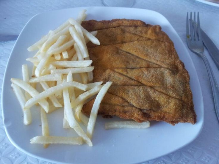 Restaurante Fuentes. Escalope de ternera de Avila.