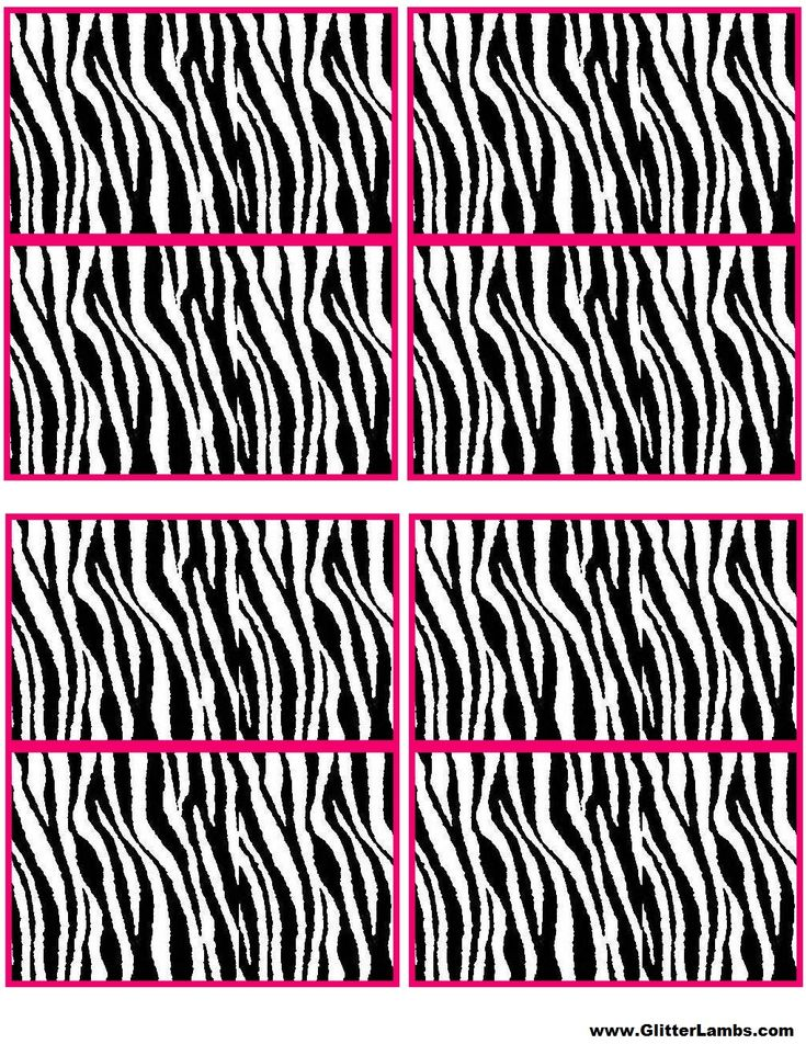 Pink and Zebra Templates Free | ... Free Printable Cupcake Topper Templates For A DIY Pink Zebra Birthday