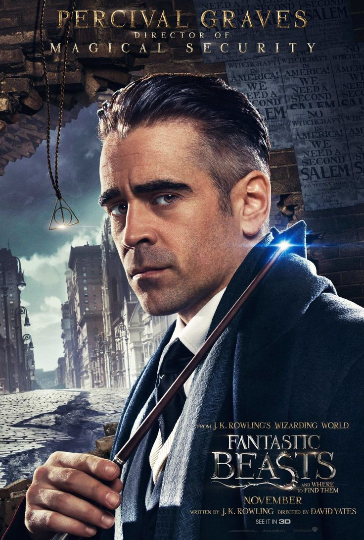 Why the hell is the Deathly Hallows symbol in Colin Farrell's Fantastic Beasts and Where to Find Them poster? - DigitalSpy.com