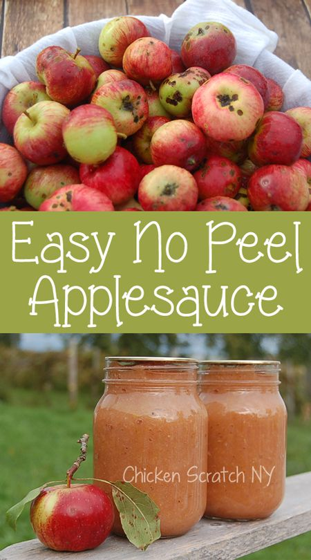Easy No Peel Whole Apple Applesauce