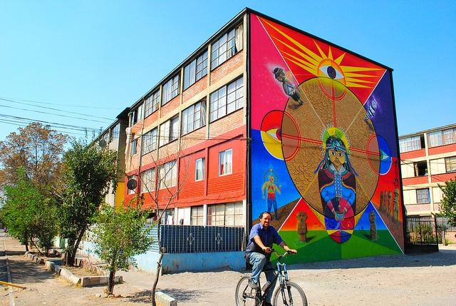 Museo a Cielo Abierto de San Miguel. Kultrun mapuche