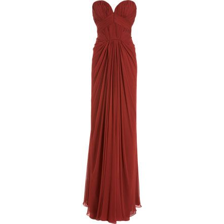 J. Mendel Sweetheart Bodice Gown    I love how the fabric is gathered.
