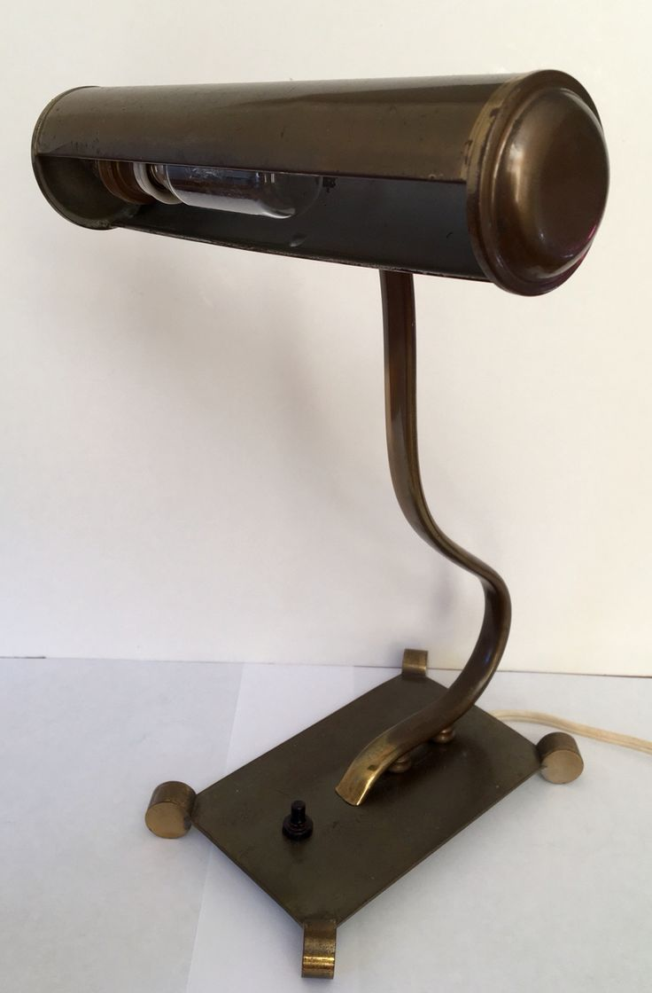 Brass Art Deco desk lamp circa 1935.