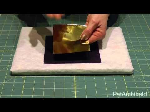 ▶ TEXUTRE: FOILS Textile Art Howto: Applying Foils with Bondaweb - YouTube