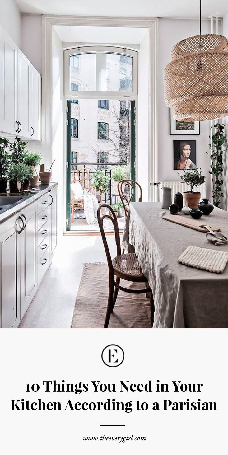 10 things you need in your kitchen according to Parisians