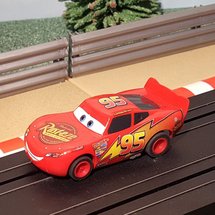 For sale Micro Scalextric ... One careful owner! Browse here http://www.actionslotracing.co.uk/products/micro-scalextric-1-64-car-disney-pixar-cars-lightning-mcqueen-95-rust-eze-1?utm_campaign=social_autopilot&utm_source=pin&utm_medium=pin
