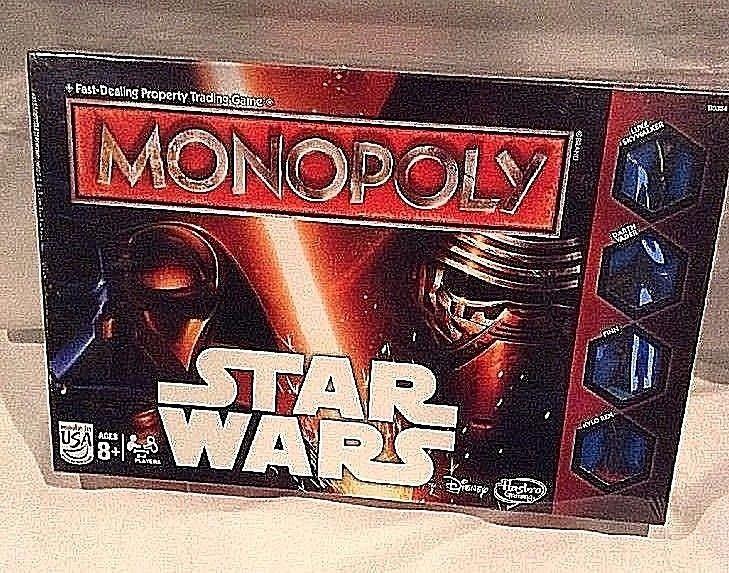 Star Wars Luke Skywalker Darth Vader Hasbro Gaming Monopoly Game Disney NIB 2015 #Hasbro