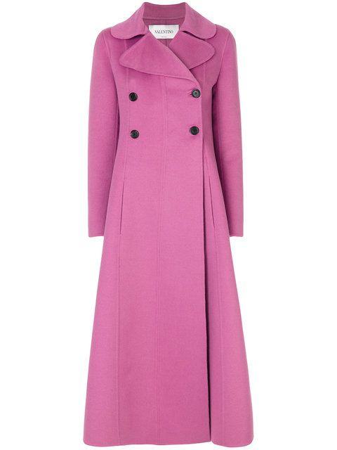 Купить Valentino длинное строгое пальто.