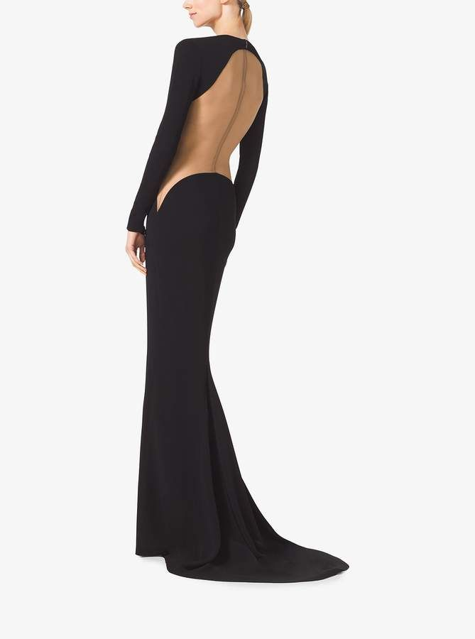 c88bbf11e44a Michael Kors Collection Stretch Matte-Jersey Illusion Gown | CURRENT ...