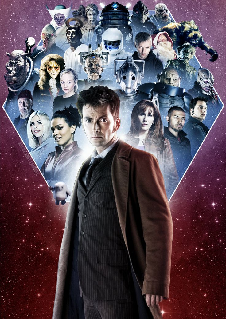The Revival Series Doctors and their companions & enemies.  Ten.