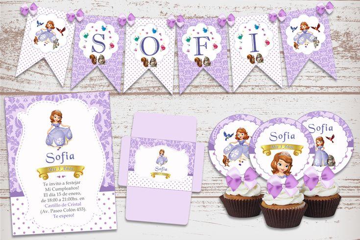 Kit Imprimible Princesa Sofia Decoración Cumpleaños Nena