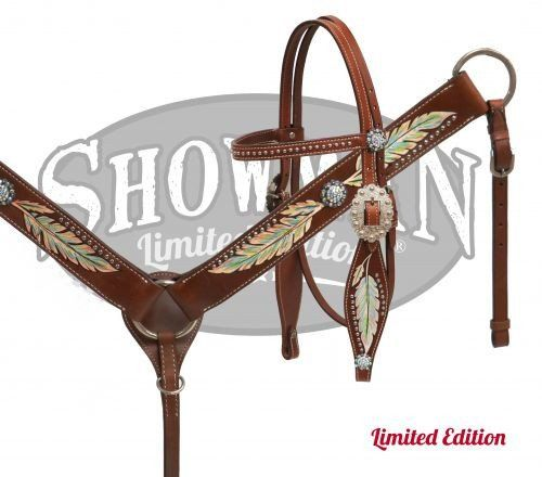 Western Horse Tack | Shimmering Feather Headstall & Breast Collar *Limited Edition* – SK Tack & Supply