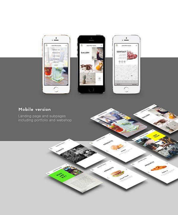 gastro blog web template design by RERi