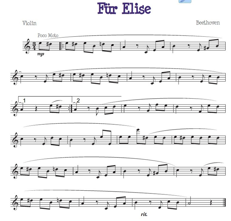 Fur Elise For The Beginner Violinist