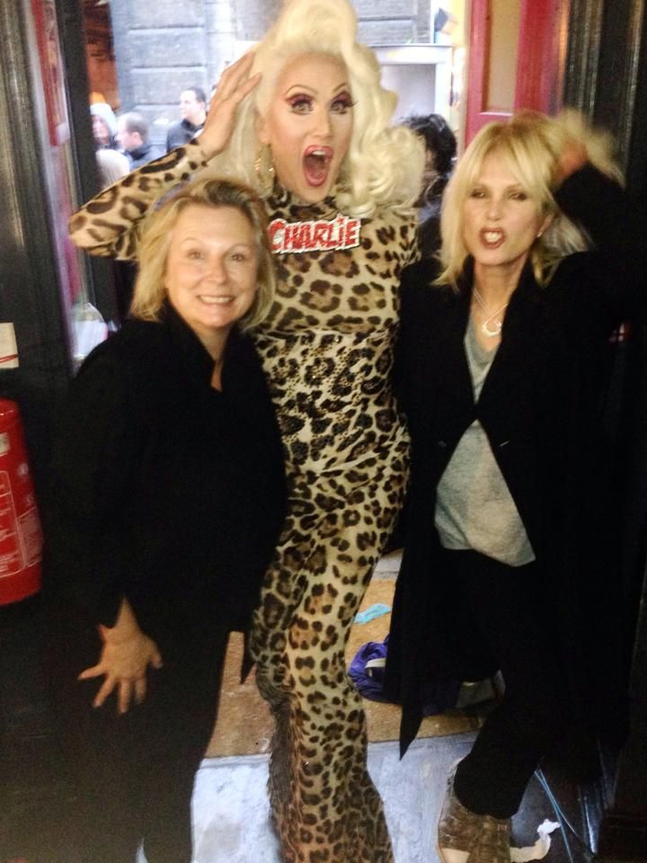 Charlie IS Absolutely Fabulous with Jennifer and Joanna!  http://attitude.co.uk/pics-ab-fab-movie-shoots-scenes-at-royal-vauxhall-tavern-with-over-90-drag-queens/