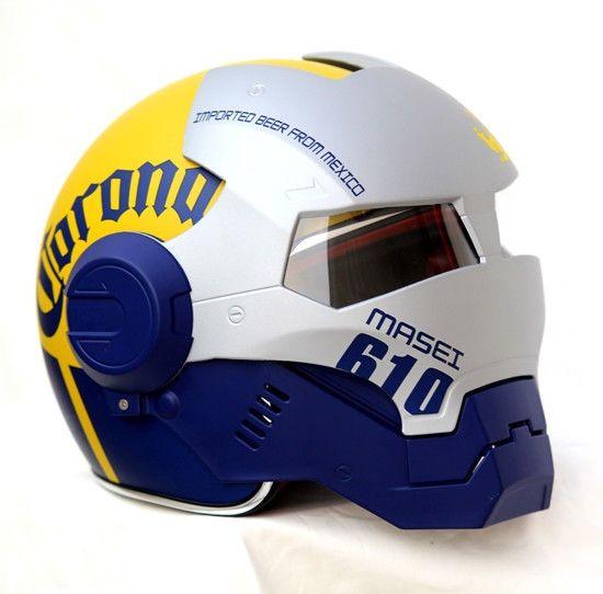 Masei Corona Beer Bar 610 Open Face Harley Bike Motorcycle Chopper Helmet E102 #MaseiHelmet