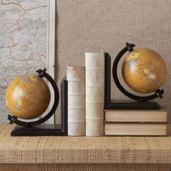 Around the Globe - Decorative Globe Bookends