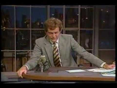 Take a minute if you ned a good laugh. This is really funny :).  David Letterman - Earthquake