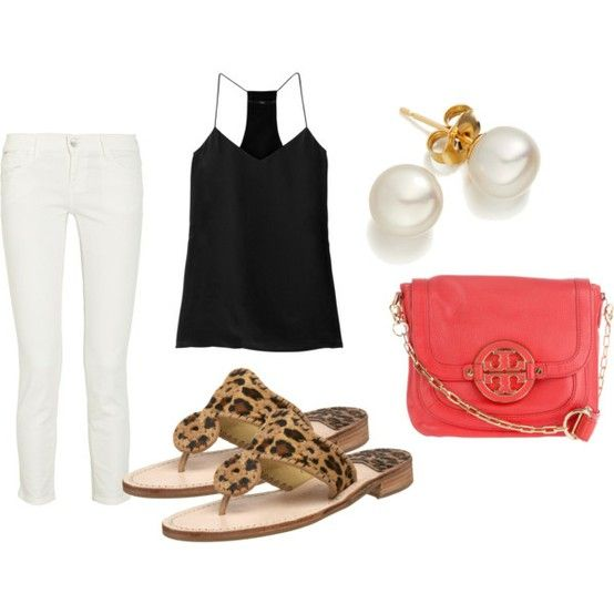 Summer outfits featuring Jack Rogers Sandals   A Journey to Style