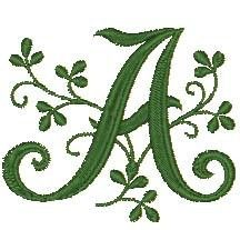 free embroidery fonts | GREEN LEAF Fancy Fonts Monogram Machine Embroidery Designs... review ...