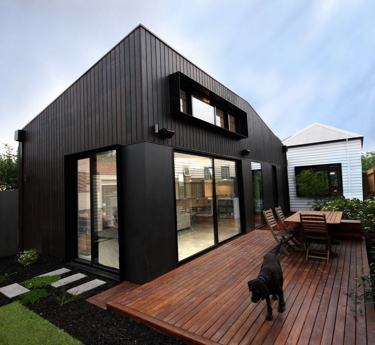 Pop a contemporary design object on the rear of your Victorian terrace house... www.robmajcen.com.au