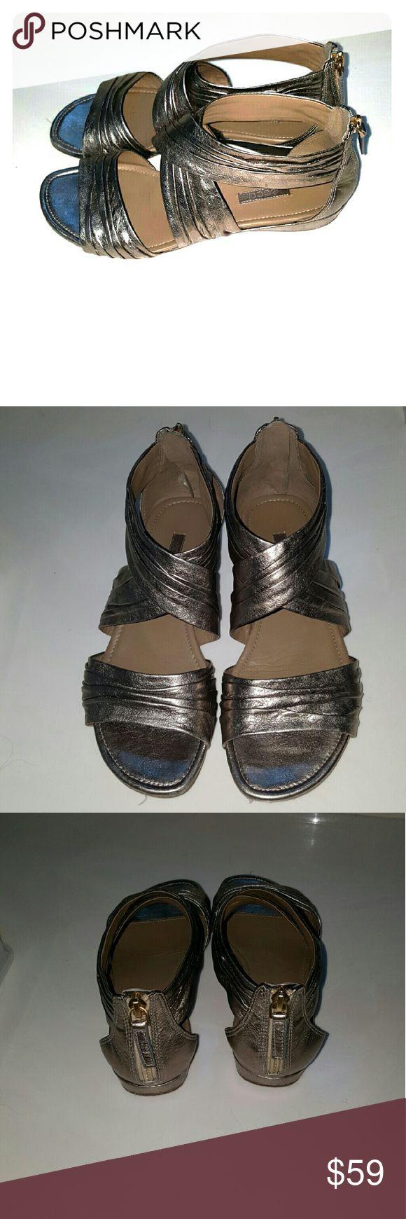 ECCO Sandals Stylish, comfortable, like new silver ECCO Sandals. Ecco Shoes Sandals