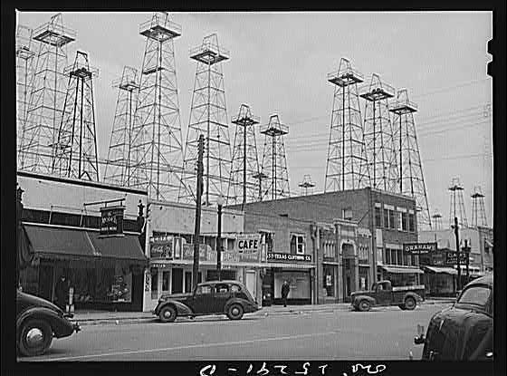 Oil Derricks (Kilgore, Texas - 1943)