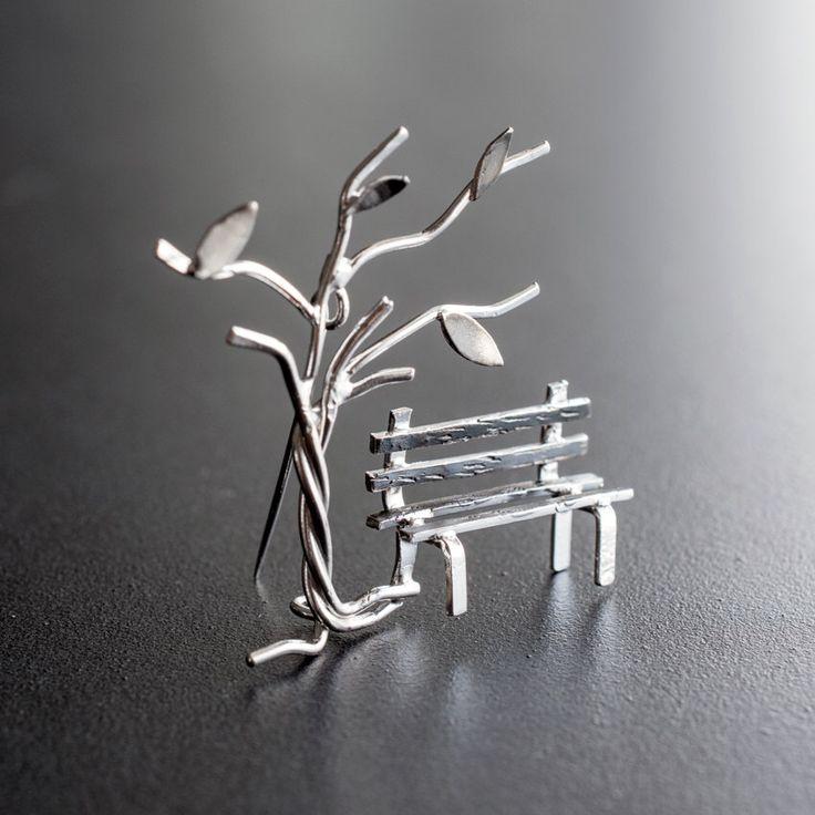 Statement brooch pin, sterling silver broach, unusual brooch, greek jewelry, gift for women, wedding brooch, Christmas gift for wife by emmanuelaGR on Etsy https://www.etsy.com/uk/listing/115911667/statement-brooch-pin-sterling-silver