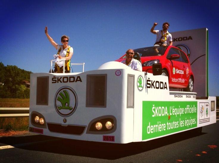 Le char SKODA a fait forte impression lors du 100e Tour de France ! #SKODA #Citigo #TDF #TDF13 #TDF100 #TourDeFrance #SkodaAimeLeTour #LaCaravane #LaCaravaneDuTour