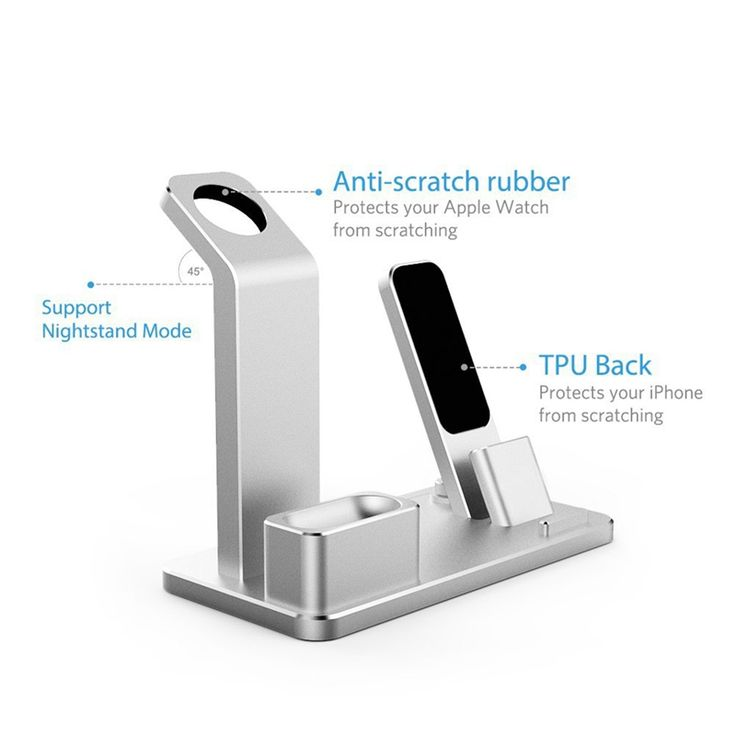 Aluminum 4 In 1 Charging Dock Station Stand Holder For iPhone/Apple Watch Series/ AirPods
