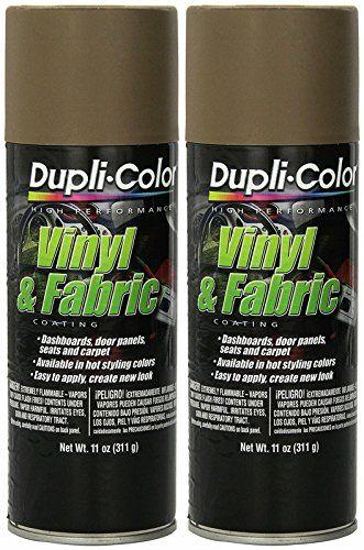 Dupli-Color HVP113 Medium Beige High Performance Vinyl and Fabric Spray - 11 oz. - 2 Pack - Dupli-Color HVP113 Medium Beige High Performance Vinyl and Fabric Spray - 11 oz. - 2 Pack