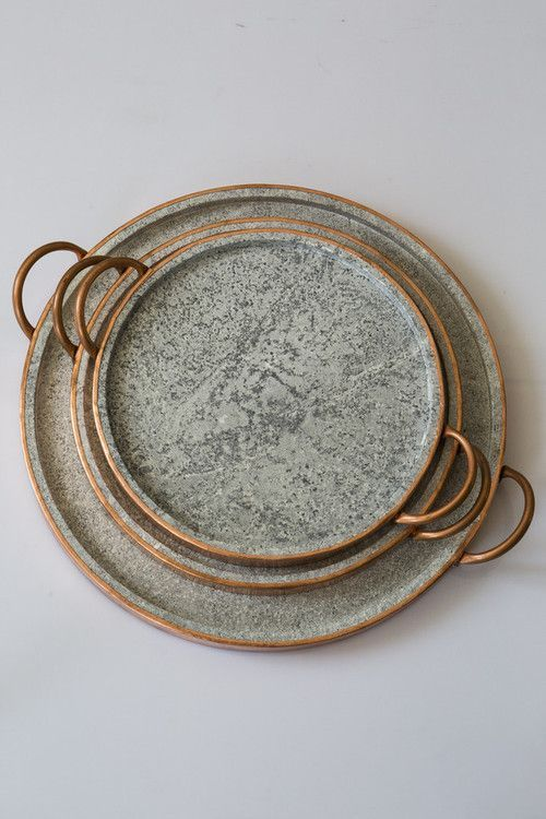 The organic look of these serving platters will make everything your serve look even more delicious!