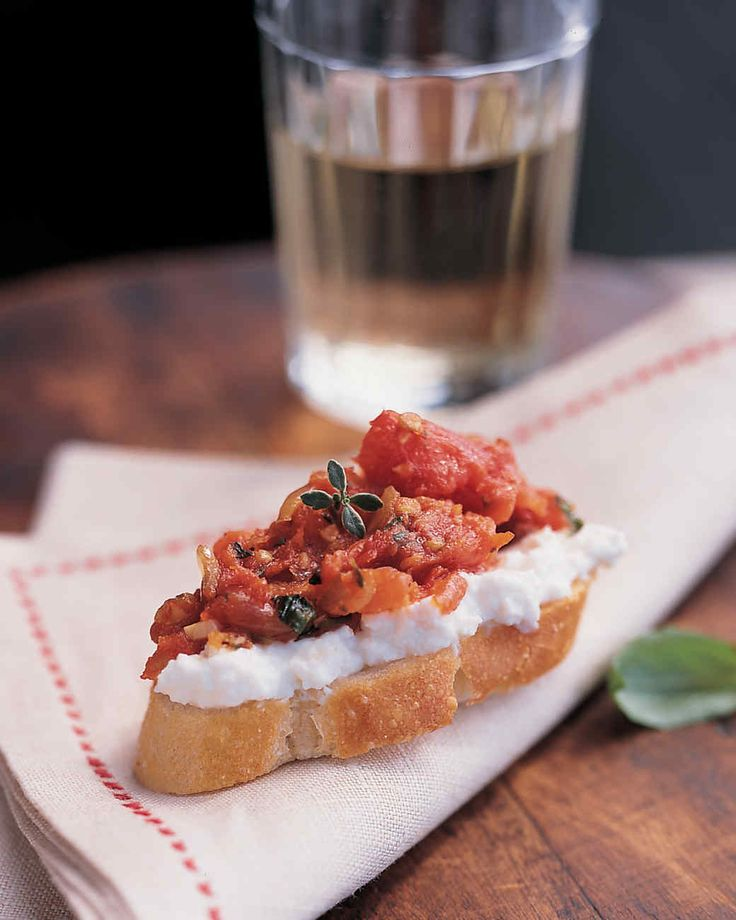 Even if you don't can your own tomato sauce, you can make this fresh and satisfying bruschetta.