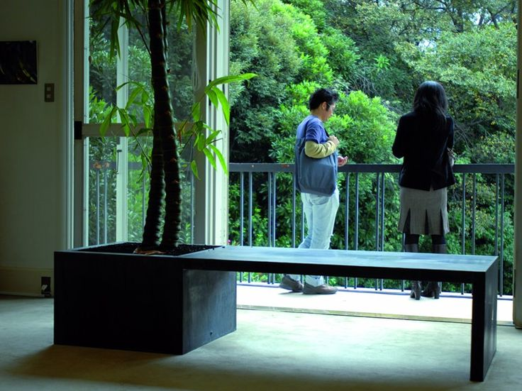 Zinc Bench with Integrated Planter ZINC IN/OUT by Domani