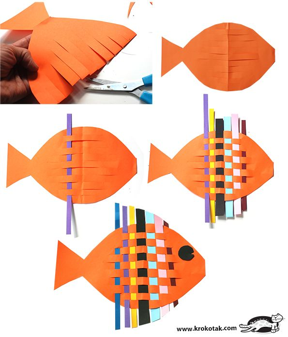 Tutorial / Fish from interwoven colored paper strips