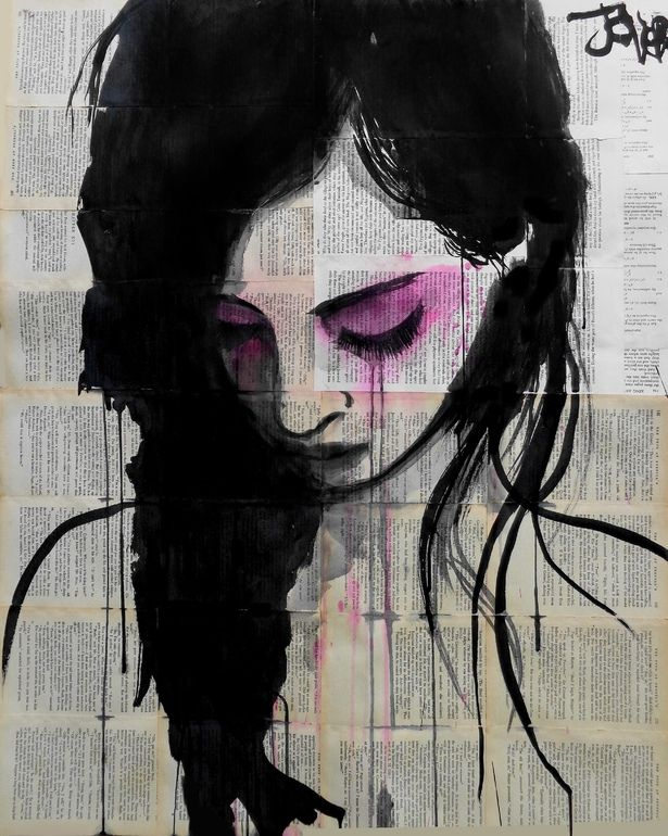 """Saatchi Online Artist: Loui Jover; Chalk Drawing 2013 """"cherry"""" Love this one so much"""
