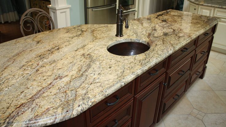 River Yellow  Kitchen Prefab Granite Countertop