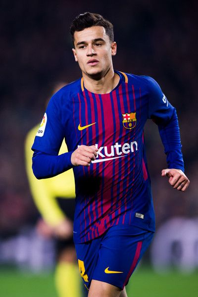 Philippe Coutinho of FC Barcelona runs during the Spanish Copa del Rey Quarter Final Second Leg match between FC Barcelona and RCD Espanyol at Camp Nou stadium at Camp Nou on January 25, 2018 in Barcelona.