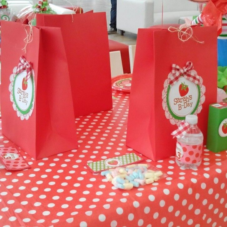 Bolsas de regalo Strawberry Party
