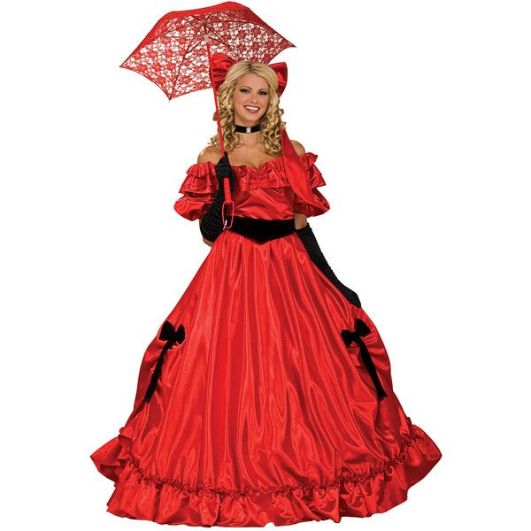 c8959db6df005 Red Southern Belle Ball Gown ? Liked On Polyvore Featuring Costumes  Masquerade Costumes Red Sc 1 St Pinterest