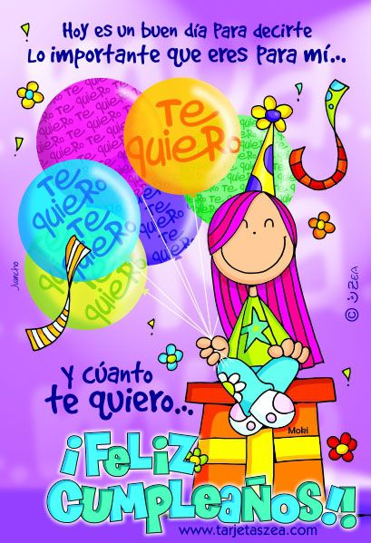 17 Best images about tarjetas on Pinterest Birthday wishes, Happy birthday wishes and Te amo