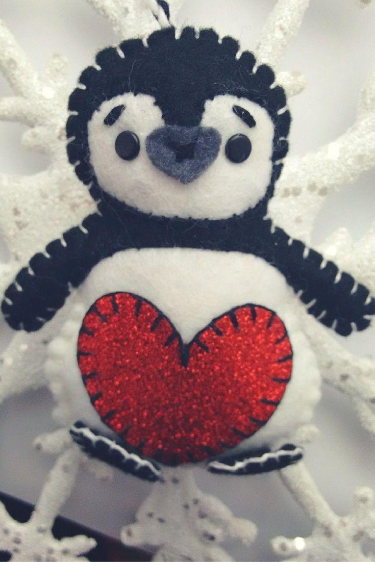Felt Penguin Pattern for Christmas Decoration