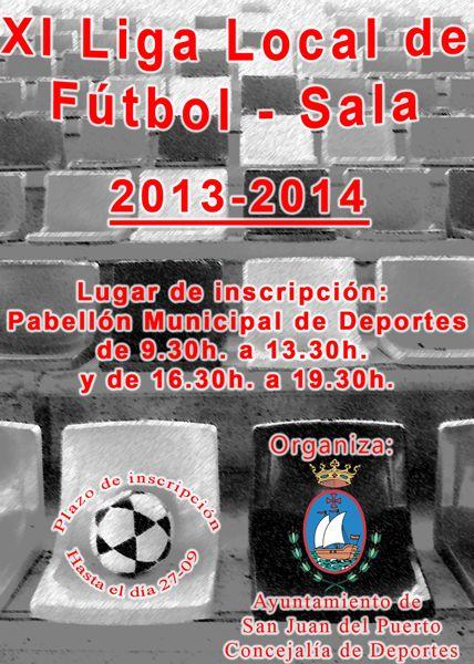 Cartel de la liga de Fútbol Sala, que va por su edición número 11