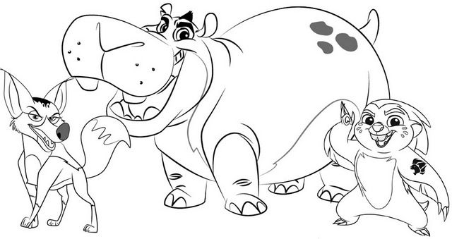 Besthe Bunga And Reirei Coloring Page Of Lion Guard Disney Coloring Pages Disney Coloring Pages Lion Guard