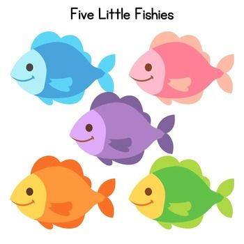 Five little fishies a book about colors adapted book for for Little fish swimming
