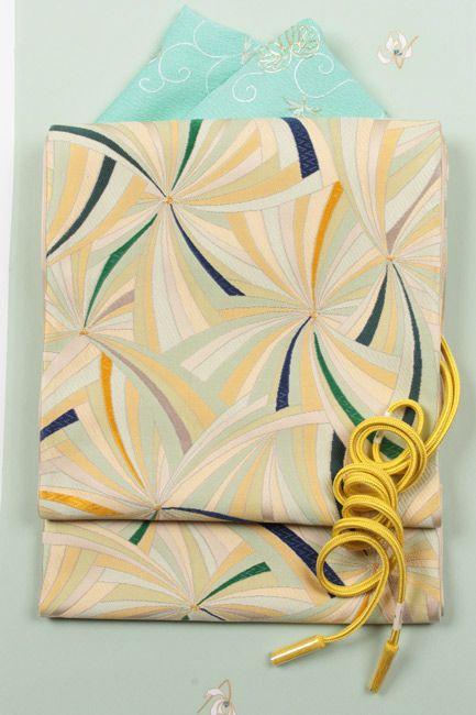 【楽天市場】特選西陣袋帯 【帯のあらた】「花ぐるま文」斬新なデザインの幾何学模様:きもの 和<なごみ>