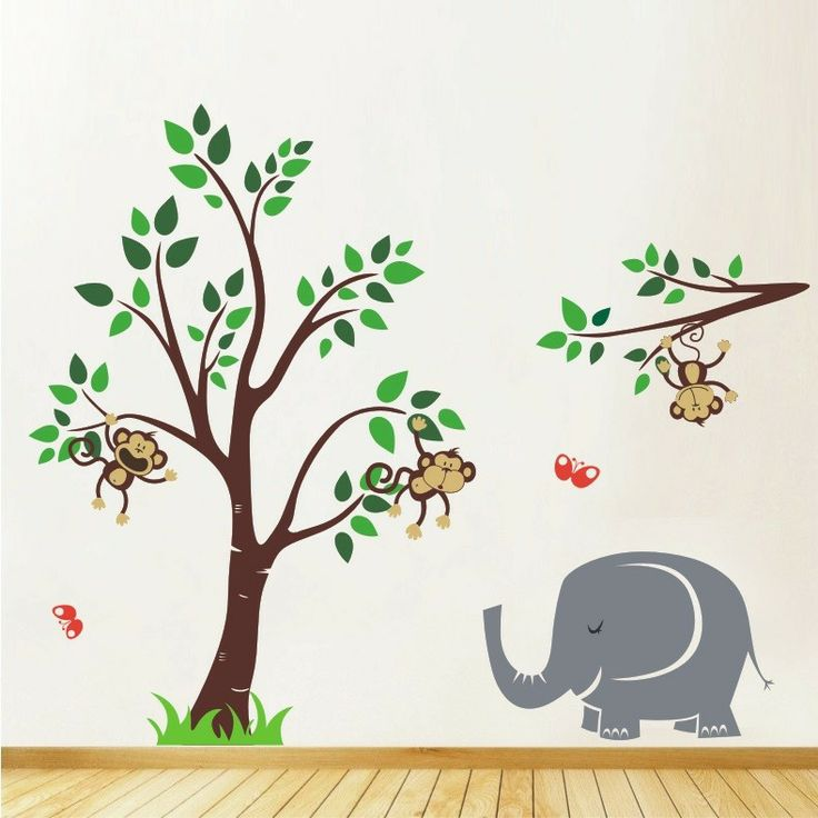 Animal Friends Jungle Safari Mega Pack Nursery Wall Stickers UK, sticker for wall