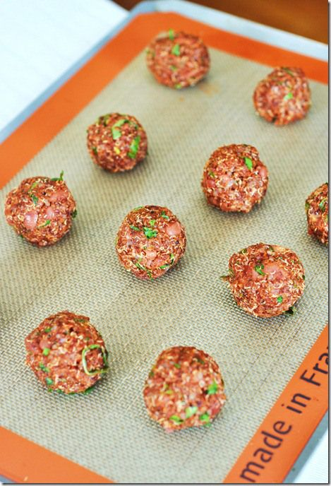 Quinoa PIzza Balls - freezable veggie meal - great with spag squash!