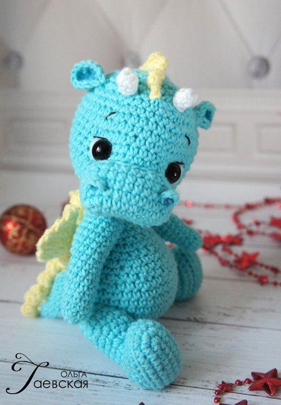 Amigurumi Crochet Mini Dragon Pattern by Little Bear Crochets   820x570