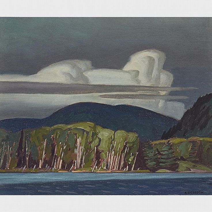A.J. Casson - Lake of Two Rivers 9.5 x 11.25 Oil on board (1947)